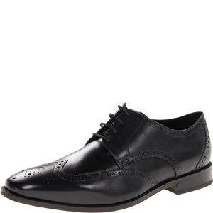 Florsheim Mens Castellano Wing-Tip Oxford Black 9M